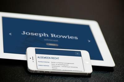 One-page website met koppeling aan CMS-systeem voor advocatenkantoor Rowies te Beringen