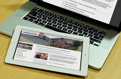 Website gekoppeld aan een CMS systeem voor dakwerken Broekhoven Erik te Lummen