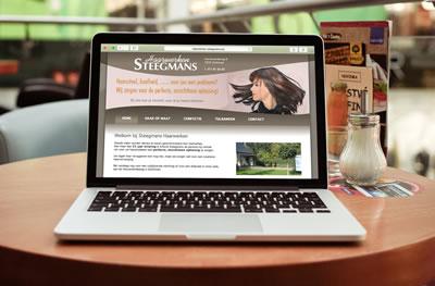 CMS website voor Steegmans Haarwerken te Zonhoven